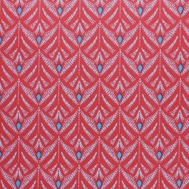 Oilcloth fabric - Red Pinata x 10cm