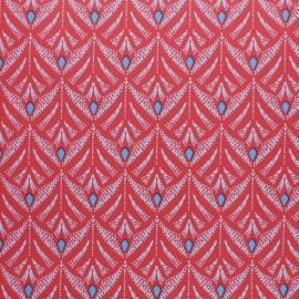 Tissu toile cirée Pinata - rouge x 10cm