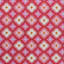 Tissu toile cirée Praia de Faro - rouge x 10cm