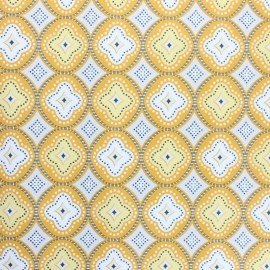 Oilcloth fabric - yellow Praia de Faro x 10cm