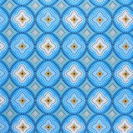 Oilcloth fabric - blue Praia de Faro x 10cm