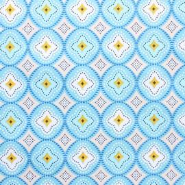 Tissu toile cirée Praia de Faro - bleu x 10cm