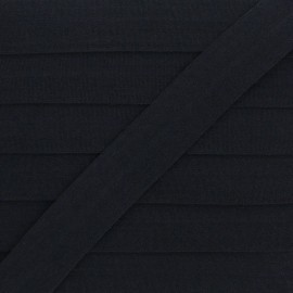 20 mm Lingerie Elastic Bias - Black Ultra Flat x 1m