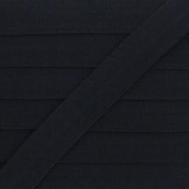 Biais Elastique Lingerie Ultra Plat 20 mm - Noir x 1m