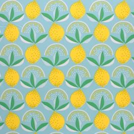 Tissu toile cirée Lemonade - aqua x 10cm