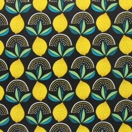 Tissu toile cirée Lemonade - noir x 10cm