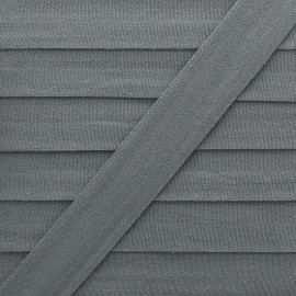 20 mm Lingerie Elastic Bias - Grey Ultra Flat x 1m