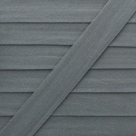 20 mm Lingerie Elastic Bias - Grey Ultra Flat x 1m