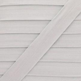 20 mm Lingerie Elastic Bias - Greige Ultra Flat x 1m