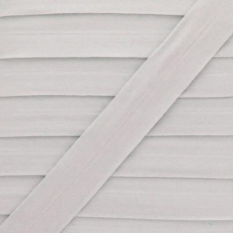 Biais Elastique Lingerie Ultra Plat 20 mm - Gris Clair x 1m