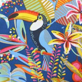 Cotton canvas fabric (280 cm) - blue Brazilia x 60cm