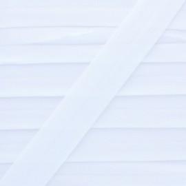 20 mm Lingerie Elastic Bias - White Ultra Flat x 1m