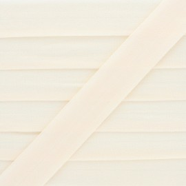 20 mm Lingerie Elastic Bias - Cream Ultra Flat x 1m