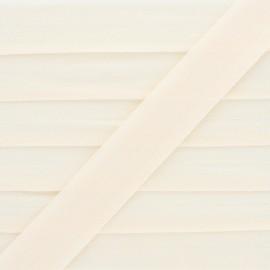 Biais Elastique Lingerie Ultra Plat 20 mm - Crème x 1m