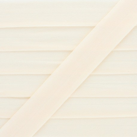 20 mm Lingerie Elastic Bias - Cream Ultra Flat x 1m