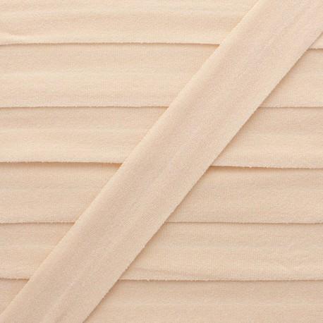 Biais Elastique Lingerie Ultra Plat 20 mm - Nude x 1m
