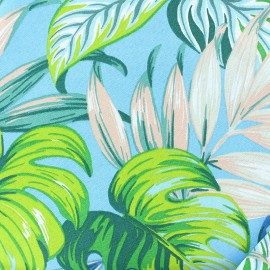 Cotton canvas fabric (280 cm) - blue Costa Rica x 30cm