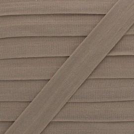 20 mm Lingerie Elastic Bias - Brown Ultra Flat x 1m