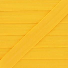 Biais Elastique Lingerie Ultra Plat 20 mm - Jaune x 1m