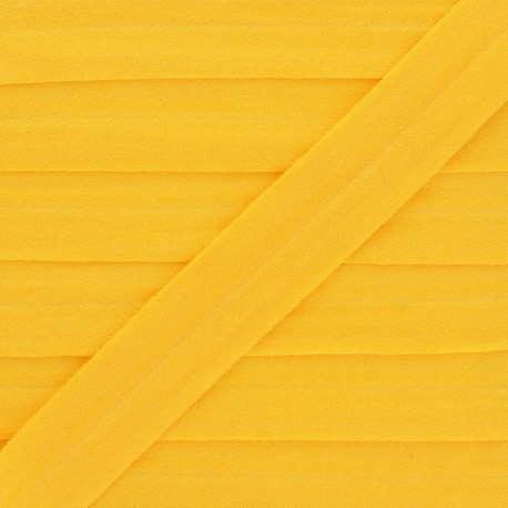 20 mm Lingerie Elastic Bias - Yellow Ultra Flat x 1m