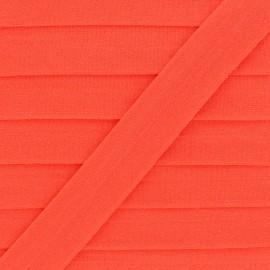 20 mm Lingerie Elastic Bias - Orange Ultra Flat x 1m