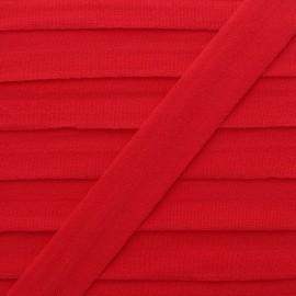 Biais Elastique Lingerie Ultra Plat 20 mm - Rouge x 1m