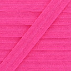 20 mm Lingerie Elastic Bias - Fuchsia Ultra Flat x 1m