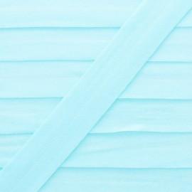 Biais Elastique Lingerie Ultra Plat 20 mm - Aqua x 1m
