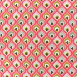 Cretonne cotton Fabric - Pink Darry x 10cm