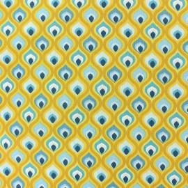 Tissu coton cretonne Darry - rose x 10cm