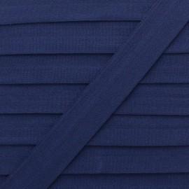 20 mm Lingerie Elastic Bias - Navy Blue Ultra Flat x 1m