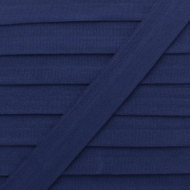Biais Elastique Lingerie Ultra Plat 20 mm - Bleu Marine x 1m