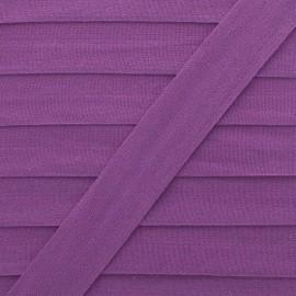 Biais Elastique Lingerie Ultra Plat 20 mm - Violet x 1m