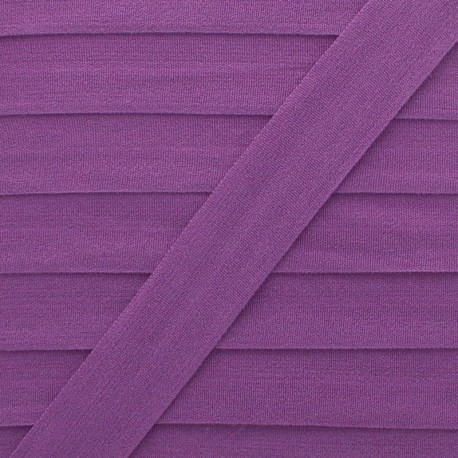 20 mm Lingerie Elastic Bias - Purple Ultra Flat x 1m