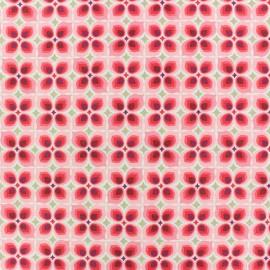 Tissu coton cretonne Wendy - rose x 10cm