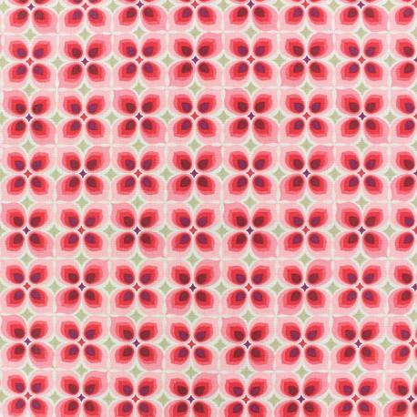 Cretonne cotton Fabric - Pink Wendy x 10cm