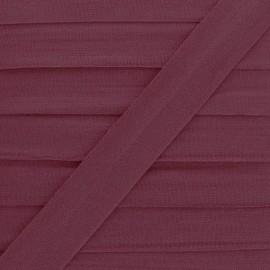 Biais Elastique Lingerie Ultra Plat 20 mm - Lie de Vin x 1m