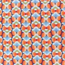 Cretonne cotton Fabric - Orange Donna x 10cm