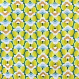 Tissu coton cretonne Donna - vert x 10cm