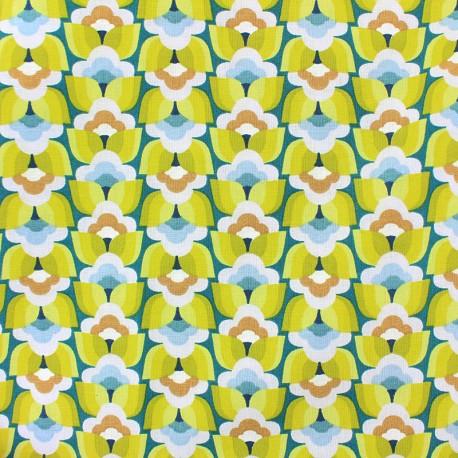 Cretonne cotton Fabric - green Donna x 10cm