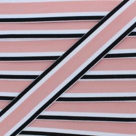 40 mm Reversible Elastic Ribbon - Pink Martin x 1m