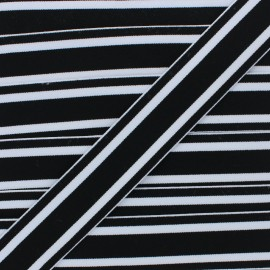 40 mm Reversible Elastic Ribbon - Black Martin x 1m