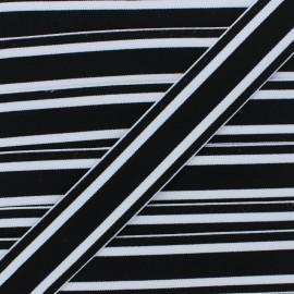 Ruban Élastique Réversible Martin 40 mm - Noir x 1m