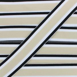 Ruban Élastique Réversible Martin 40 mm - Beige x 1m