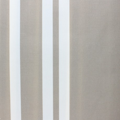 Matte coated Polycotton fabric - Grey Tricot x 10cm
