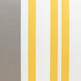 Tissu polycoton enduit St Jean de luz - Ficelle/jaune x 10cm