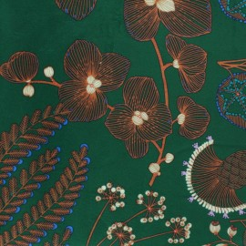 Tissu velours ras Phoenix - vert foncé x 50cm