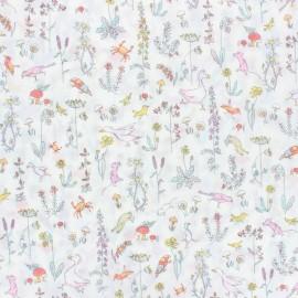 Tissu Liberty - Theo A - blanc x 10cm