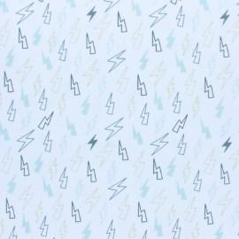 Tissu piqué de coton Orage - gris x 10cm
