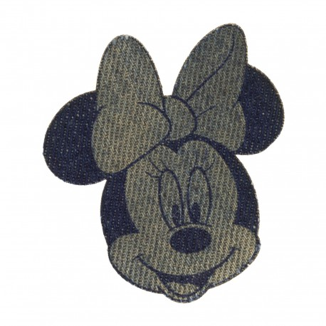 Disney Minnie Iron-On Patch - Sepia